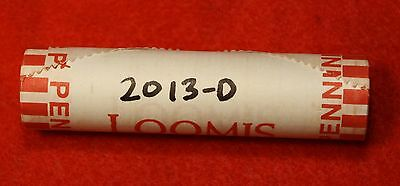 2013-D Lincoln Union Shield Cent Penny 50 Coin Roll Red Bu Collector Gift