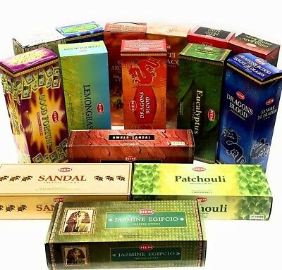 Hem Incense Large Selection Box Of 6 X 20= 120 Sticks Select Your Favorite Scent