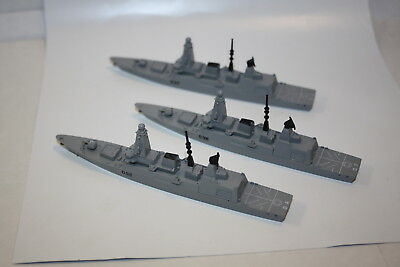 Trio of unboxed type 45 destroyers. New no boxes.