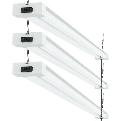 Sunco 3 Pack Frosted LED Utility Shop Light 40W (260W) 6000K Daylight 4100 lm