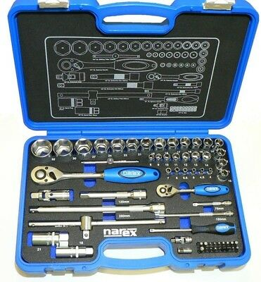 """Narex® Professional Socket and Wrench Set 1/4"""" + 1/2"""" - Fully Set - Factory New"""
