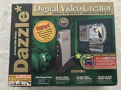 Dazzle Digital Video Creator External USB Create Tv Quality Video on Your PC
