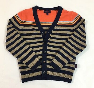 Paul Smith Cardigan Sweater 3a BOYS TODDLER Multi-Color Button Front Striped