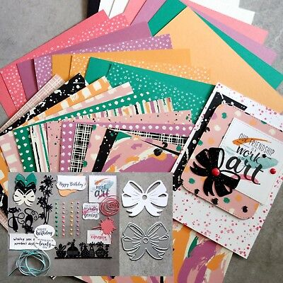 """Free Bow Die Offer:  Stampin' Up! """"playful Palette"""" Paper Pack & Embellishments"""