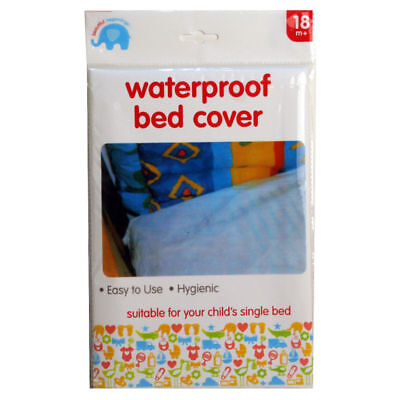 Waterproof White Baby Toddler Bed Cover Mattress Protector Single Sheet