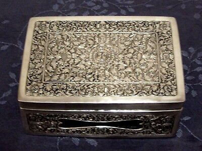 Argent Massif Chine Du Sud Boite Chinese Export Silver Box 832G
