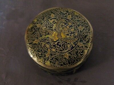 Argent Massif Chine Du Sud Chinese Export Silver Box Enamel 285 G