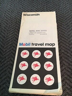 1974 Mobil Wisconsin State Map