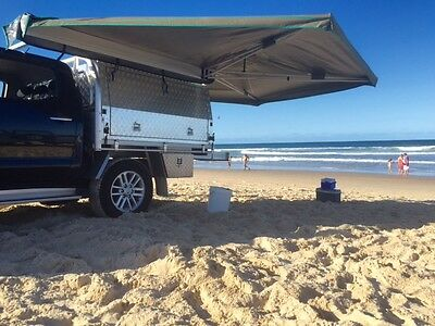 30 Second Wing Awning  FREE DOME TENT - Passanger Side Black Bag (FREE POSTAGE)