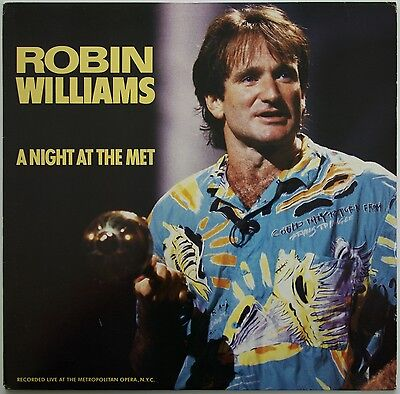 Robin Williams - A Night At The Met LP 1986  USA Columbia FC 40541