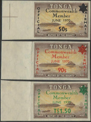 Tonga official 1970 SGO42-O44 Commonwealth Membership set MNH