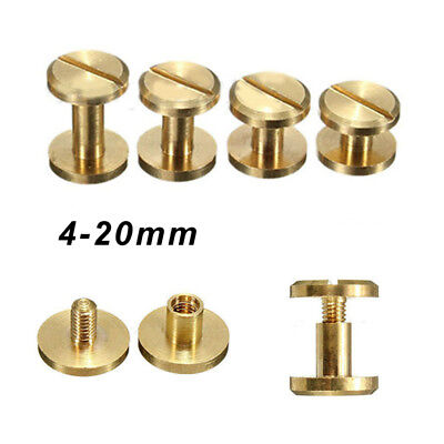 Belt Screw Leather Chicago Nail Brass Solid Rivets Stud Head Wallet Round Gadget