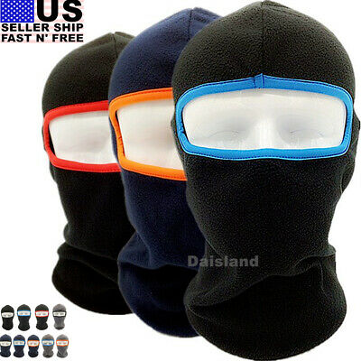 Men's Winter Fleece Balaclava Hat Thermal Ski Motorcycle Neck Face Mask Hood Cap