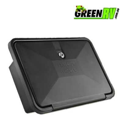 Black External Shower Box Caravan Motorhome Camper Boat
