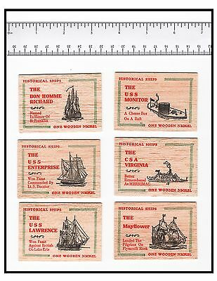 Historical Ships Wooden Nickels