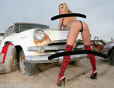 "SUPER ULTRA Hot ""JunkYard"" Car Babe ""Pin-UP"" Model PHOTO! #(14)"