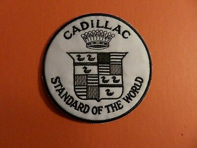 CADILLAC & black & white Embroidered 4 x 4 Iron On Patch