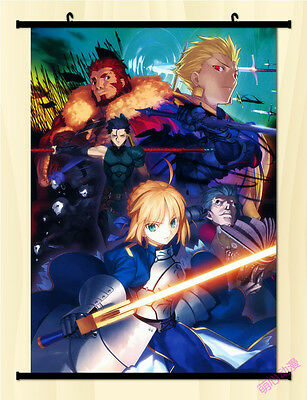 "8/""*12/"" Home Decor Japan Anime FATE ZERO SABER LILY Wall Poster Scroll Cosplay L"