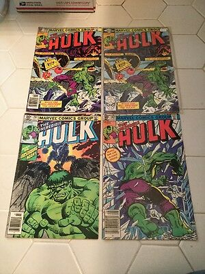 The Incredible Hulk 260 Direct, 260 Newsstand, 261, 262 Lot Of 4