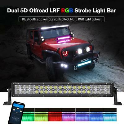 22Inch 280W RGB LED Light Bar Wireless Glow Multi Color 16Colors Changing 20/24