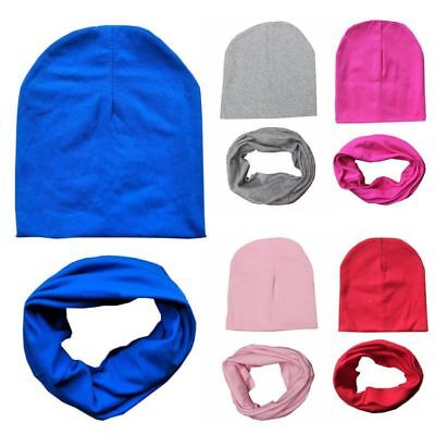 Baby Hat Scarf Set Spring Winter Warm Caps Cotton For Kid Infant Toddler 2PC/Set