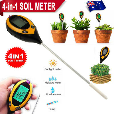 3in1 PH Tester Soil Water Moisture Light Test Meter Garden Plant Flower Kit Tool