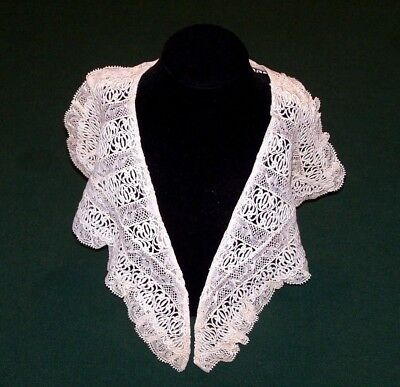 EXQUISITE VINTAGE BOBBIN LACE COLLAR, STUNNING LACE, NEVER USED, EX. COND. c1920