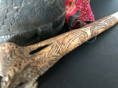 Old Papua New Guinea Sepik River Abelam Carved Dagger...