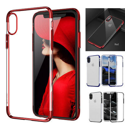 Apple Ultra Thin Transparent Clear Shockproof Bumper Case For iPhone X 8 7 Plus