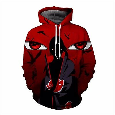 Anime Naruto Uzumaki 3D Hoodie Jacket Sweatshirt Pullover Sweater Jumpers New