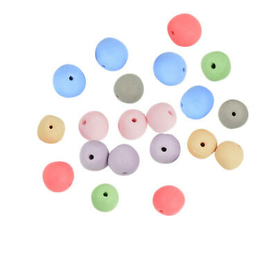20Pcs Mixed Colors Charm Ceramic Clay Porcelain Loose Beads Craft Findings