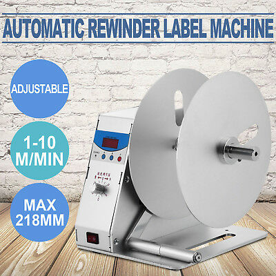 Automatic Label Tags Rewinder Machine Speed Adjustable Printer Rewinding Machine