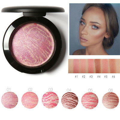 Flawless Face Bronzer Blusher Powder Facial Highlighter Contour Make up Cosmetic