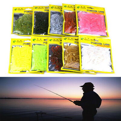 """10pcs Soft Bait 2""""-0.6g fishing lure 10color Jig Small Hook worm Bass 5CM 0.6G"""