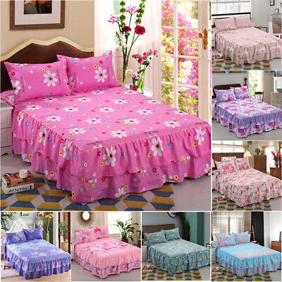 150*200cm Warm Toned Solid Color Printed Soft Velvet Queen Size Bed Skirt