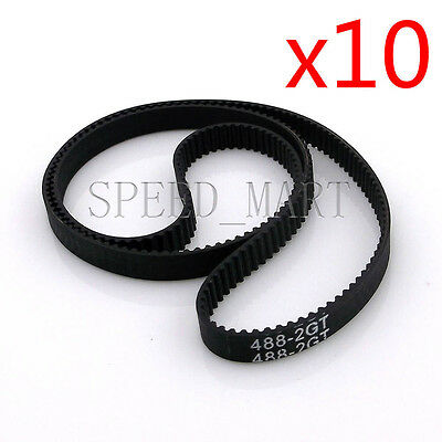 5Pcs Rubber Closed Loop GT2 Timing Belt 6mm Perimeter 140//160//172mm F 3D Printer