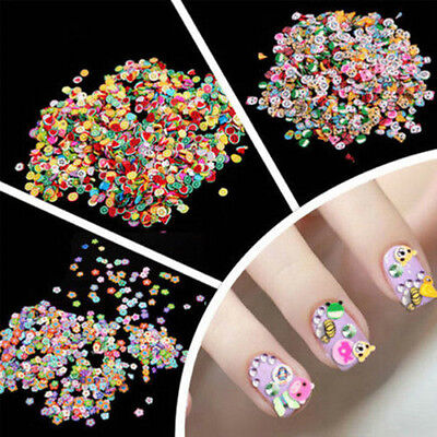 1000X Nail Art Mix Design Fimo Slices Polymer Clay Stickers Decor Manicure Craft