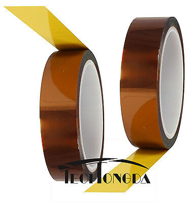 2rolls 10mm 100ft Gold Polyester Film Koptan Heat Resistant Tape Sublimation