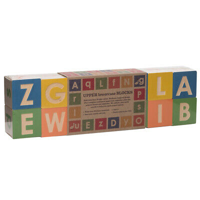 NEW Uncle Goose Upper & Lowercase ABC Blocks