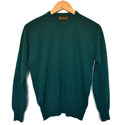 Vintage Pringle of Scotland Pure Lambswool Forest Green Jumper Size 10 1970s