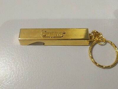 Bundaberg Rum Gold Bar Bottle Opener Keyring - Bundy Bear Glass