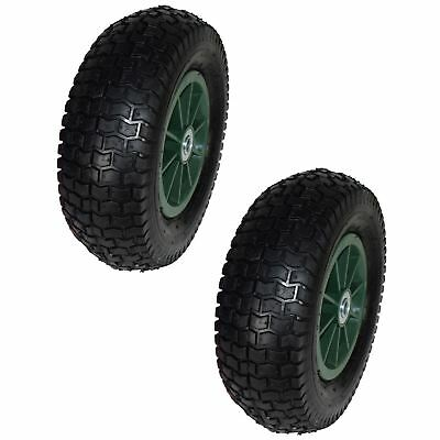 "12"" Pneumatic Sack Truck / Trolley / Dolly / Garden Cart Wheel PAIR 13x5.00-6"
