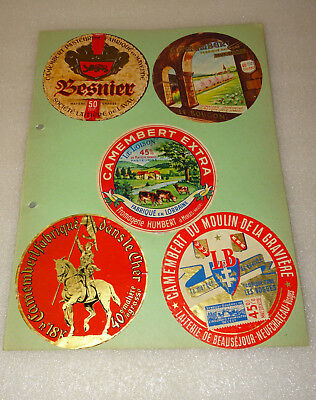 Lot 10 Anciennes Etiquettes Fromage, Camembert N°4, Humbert, Le Bougon, Coeur