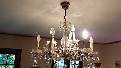 ancien lustre marie Therese 9 lampes