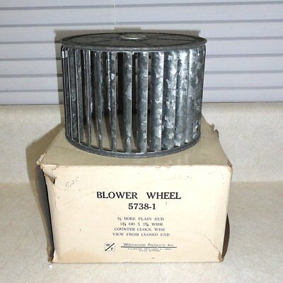 "Westwood Blower Wheel 5738-1,1/2"" Bore, 5-3/4 OD x 3-7/8 Wide, Counter-Clockwise"