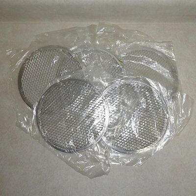 """LOT of 5 COMMERCIAL 8"""" ROUND PERFORATED PERSONAL-PIZZA SIZE SCREENS"""