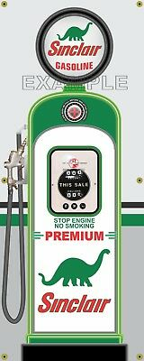 Sinclair Premium Gas Pump Vintage Old Gas Station Banner Garage Sign Art 2' X 5'