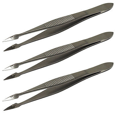 Surgimax Hunter Splinter Triple Pack, 3 x Foreign Body Removal Tweezers Forceps