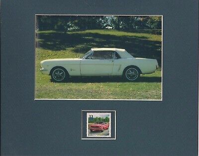 1964 Ford Mustang - Matted Art Print + Usps Stamp - 0213