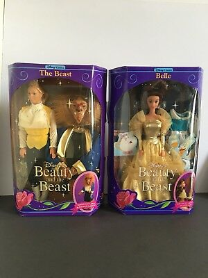 Mattel Disneys Beauty & The Beast Dolls Set Original Vintage 1991 Set Nrfb Nib
